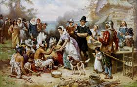 Thanksgiving food then vs. now