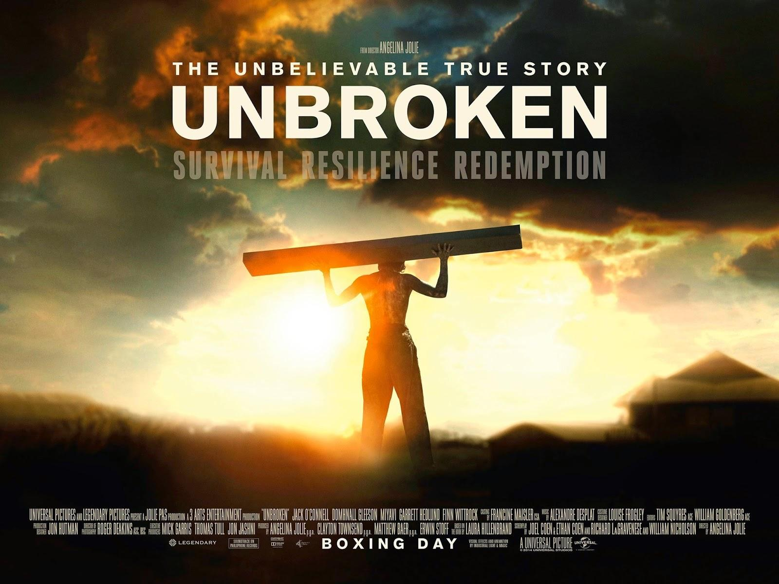 Directed by Angelina Jolie, Unbroken tells the tale of Olympic Runner ...