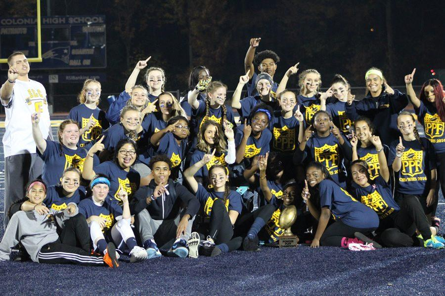 Woodbridge and Colonia Powder Puff Girls in a knot