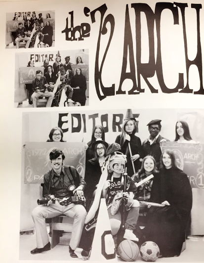 The Editors of the 1972 Colonia High School yearbook.