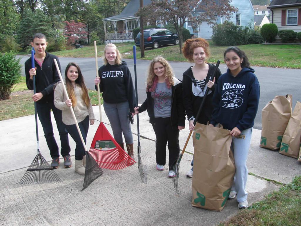 Students from the Interact Club volunteer to Dr. Spiller's leaves on weekends. Spiller is very grateful for the outpouring of student volunteers who assist with yard work, tutor her sons, and babysit for her.
