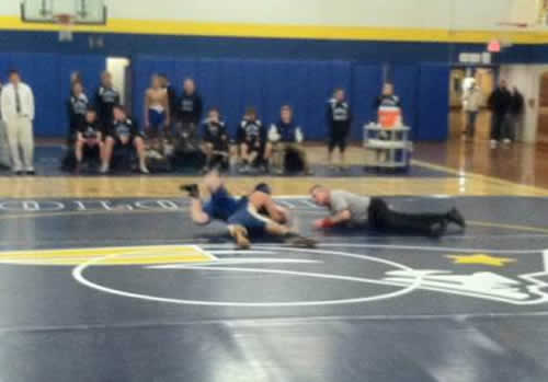 Senior Sergio Rivera goes for extra points in round 2.
