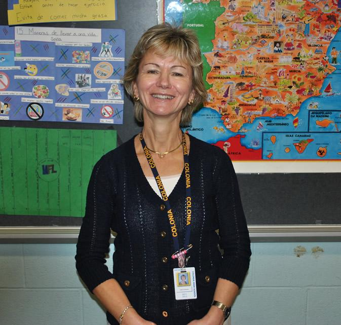 Mrs. Roberts, CHS Spanish Teacher, attended Colonia High too.
