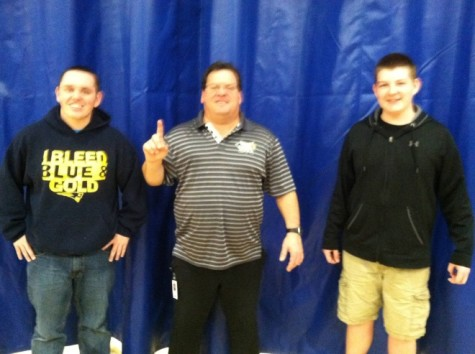 Mr. Monticollo (middle) expressing he is #1 with his stated best opponents; Andrew Fugaro (left) and Michael Passarelli (right).