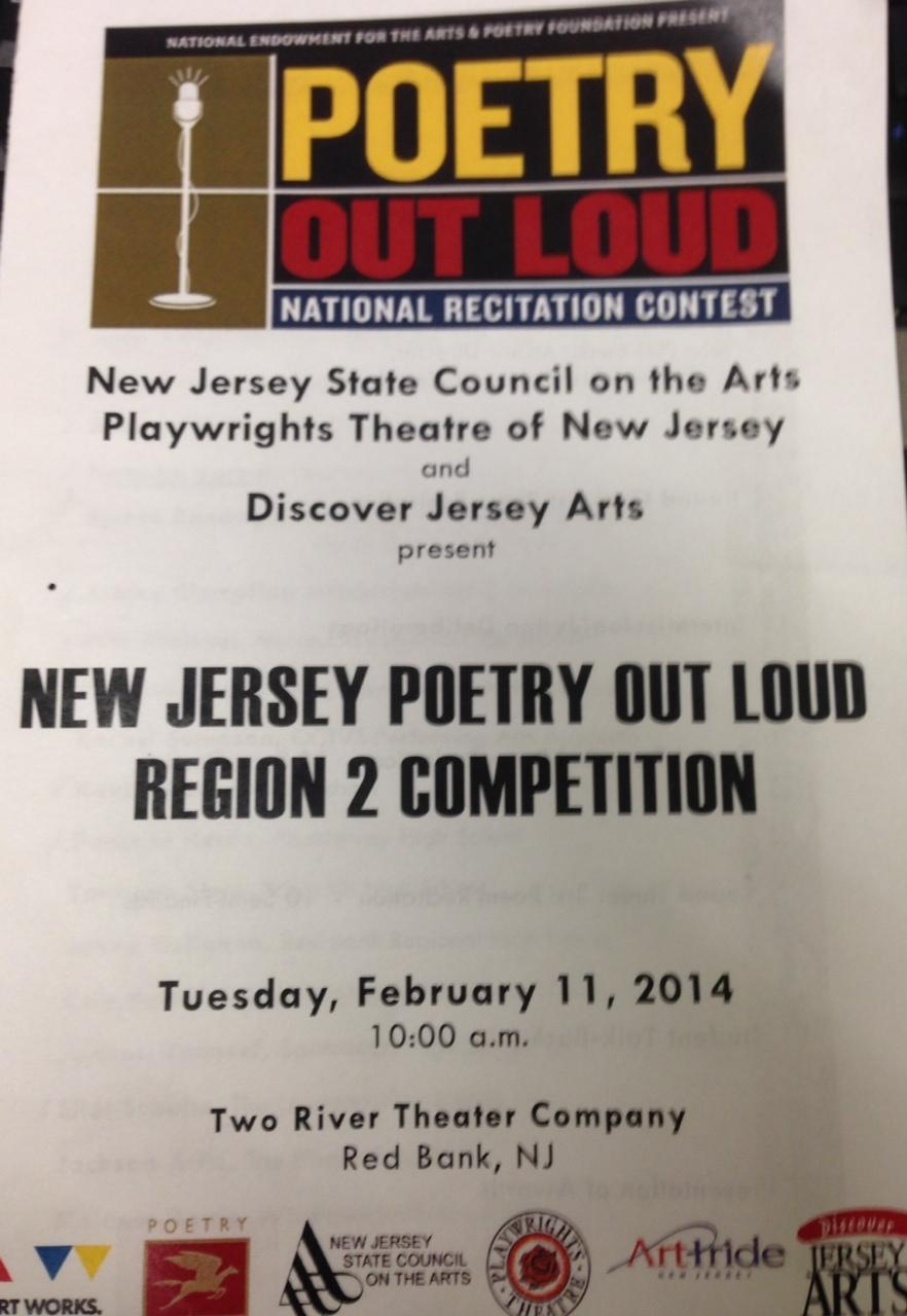 After being postponed due to snow, the Regional Poetry Out Loud Competition in New Jersey was held on February 11th. Senior, Lynnette Murray represented Colonis High.