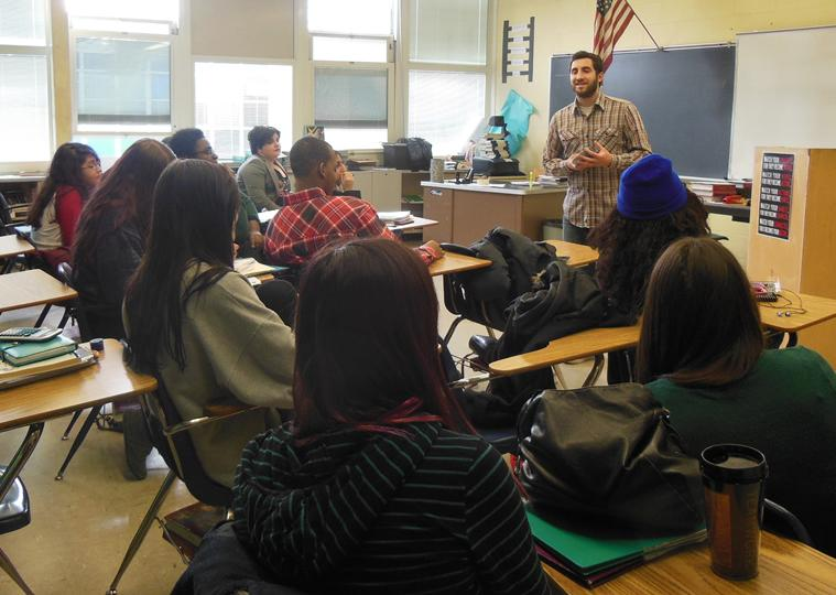 When Slam Poet, Chris Rockwell came to discuss poetry with the Poetry Club, students listened, asked questions, composed poems, and shared what they wrote.