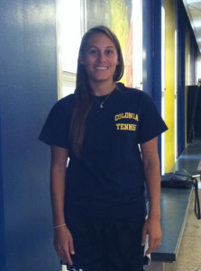Colonia High School's girls' tennis team 'Courts' new coach