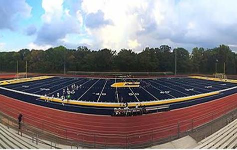 New turf field is finally ready.