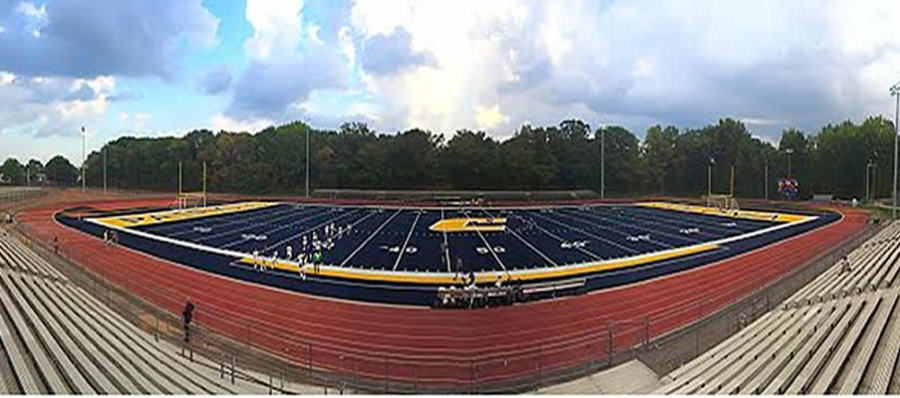 colonia high school christens new blue turf field