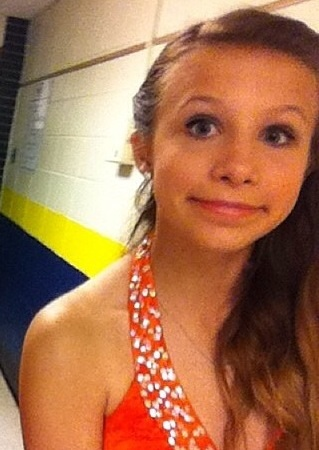 Sarah Soos at her eighth grade dance.