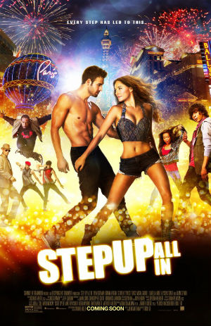 Theaters advertise the newest installment of Step Up movies.
