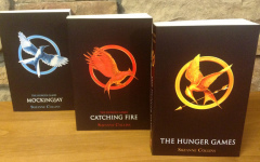 The Hunger Games book series pictured above.