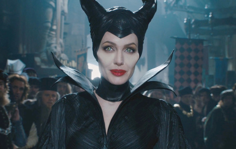 Actress Angelina Jolie playing the role of Maleficent in the movie Maleficent.