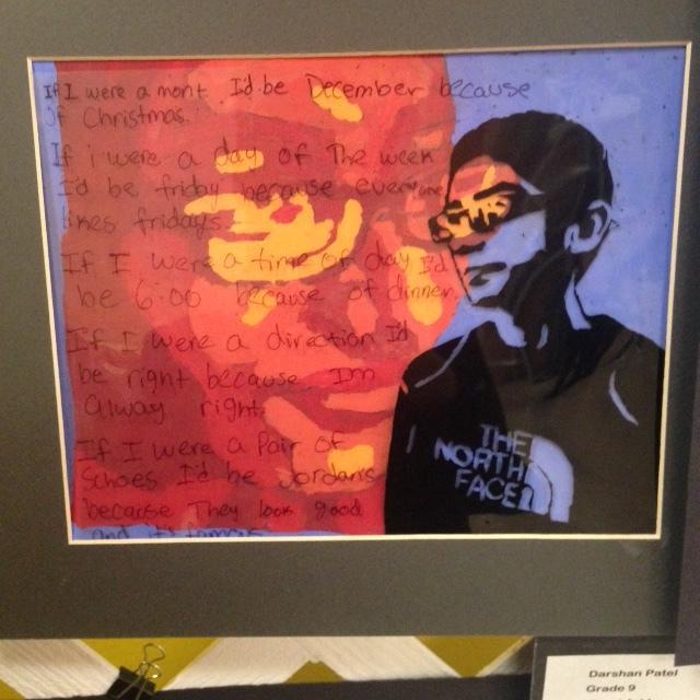 Artwork created by freshman Darshan Patel.