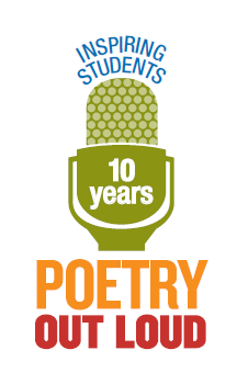 Celebrating its 10th Anniversary of promoting the arts, Poetry Out Loud is a contest sponsored byThe National Endowment for the Arts and the Poetry Foundation that encourages the nation