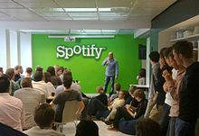 Spotify app has grown on the iTunes app store