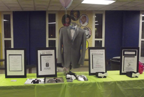 The Ducoff's Tuxedo table at the night of the CHS Prom Fashion Show.