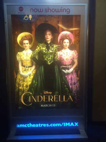 Poster inside AMC theaters of Lady Tremaine and her two daughters