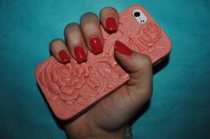 Splashing into spring with Samantha Czapik's gel manicure by Aqua Spa, Marlboro, New Jersey.