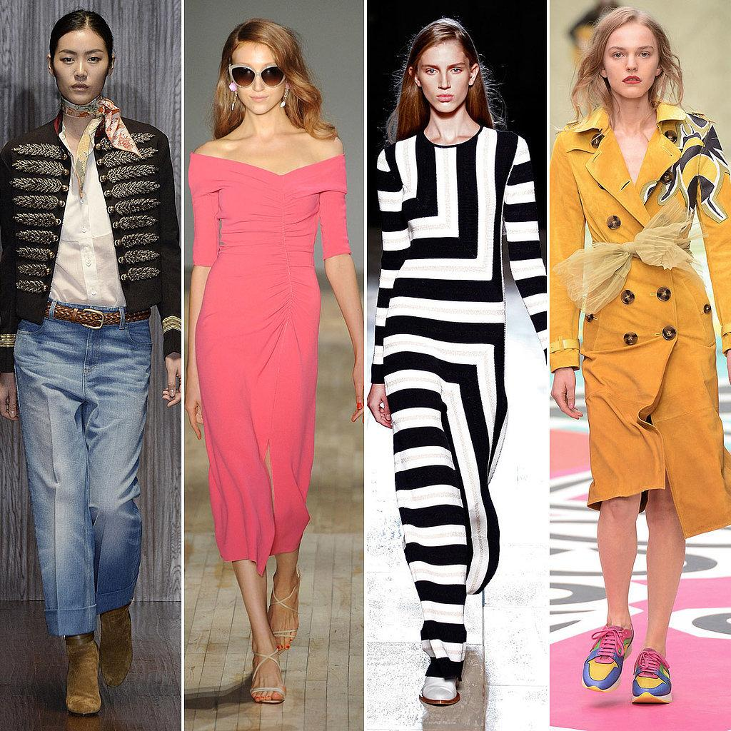 Models wearing some of the latest 2015 trends.