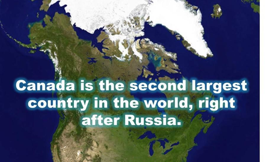 Canada is the second largest country in the world, right ...