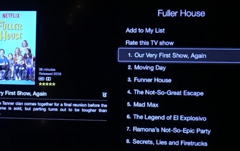 Season one episodes and cover art of Fuller House