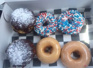 Memorial Day themed donuts from Broad St. Dough Co.