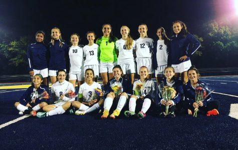 Girls' Soccer eliminates Bishop Ahr in the GMCs