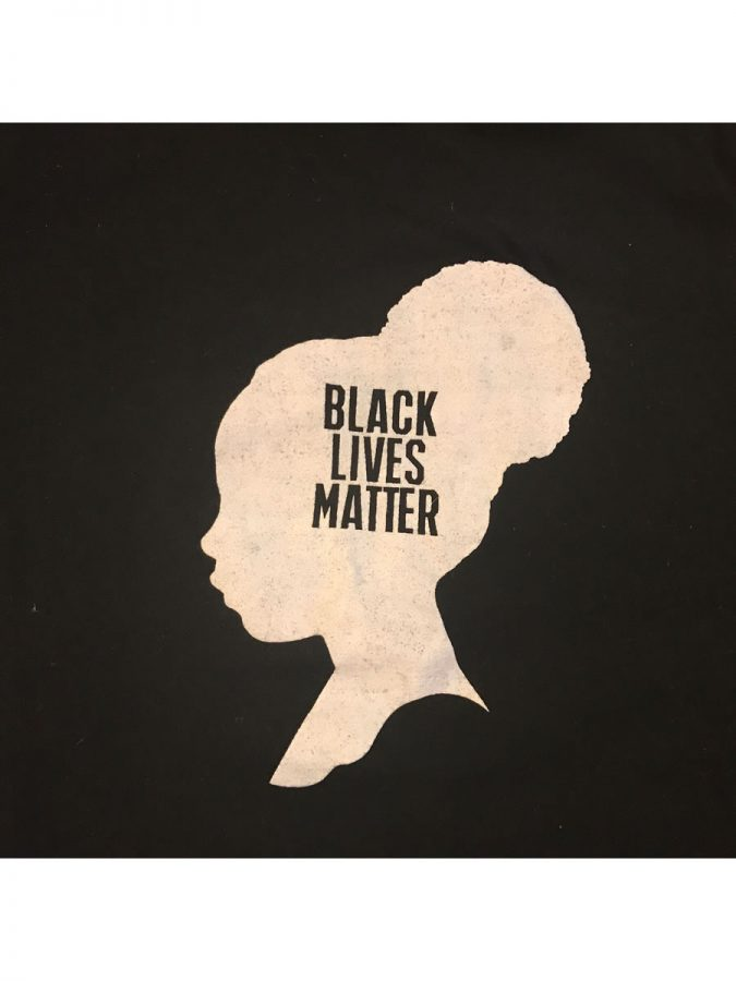 A design created by Black Lives Matter activists displays the words