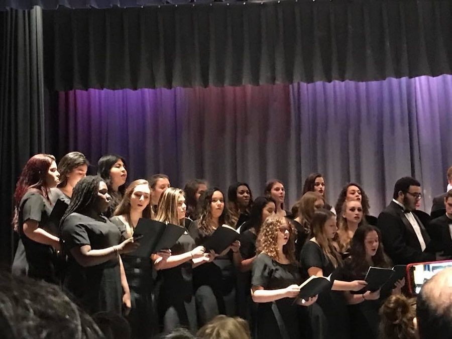 Concert Choir putting on their best performance of the
