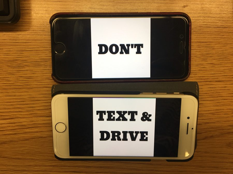 With a phone in hand while driving, you are a danger to yourself and those around you.