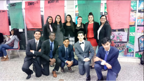 Delegates from Colonia High School pose for a picture after all the debate competitions.