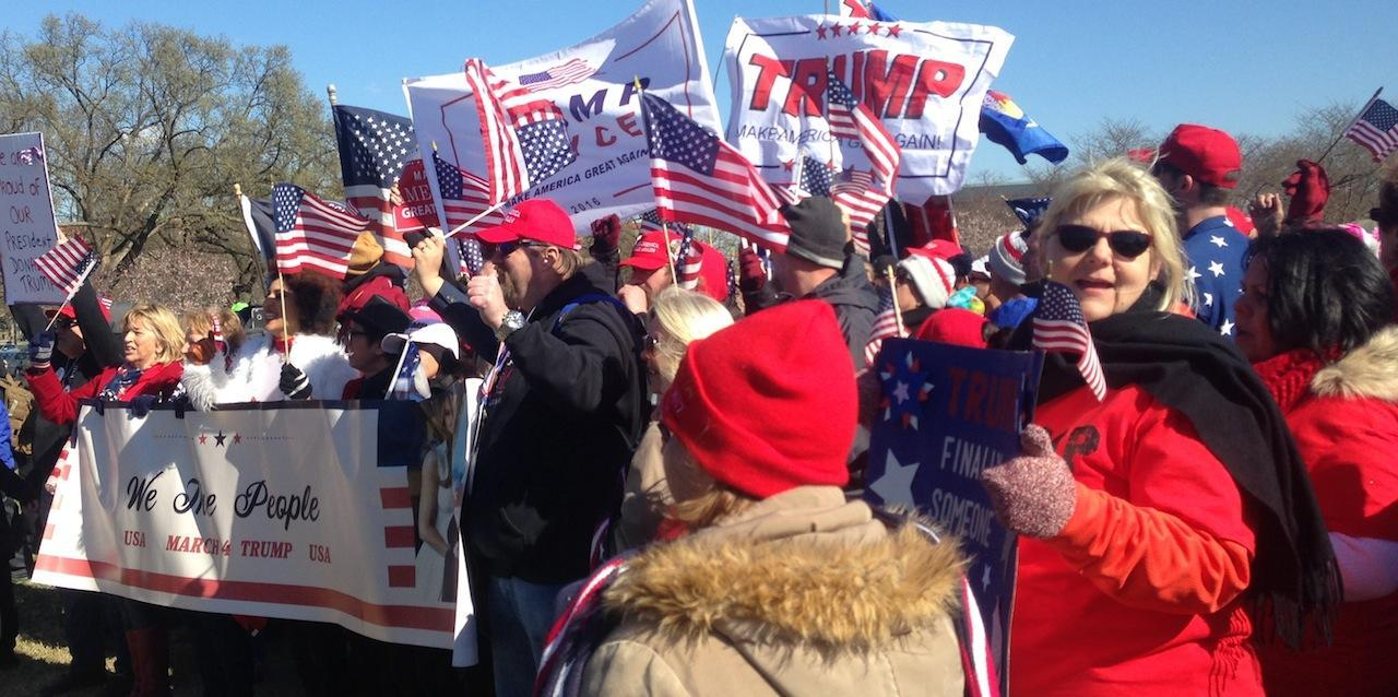The March-4-Trump sets out to march in support of President Donald Trump.