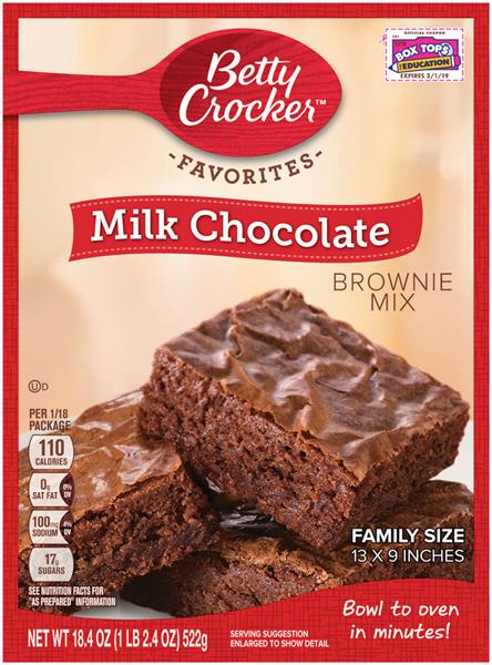 Betty Crocker products are universally recognizable and found everywhere baking products are sold.
