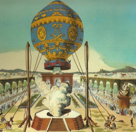 The First Hot Air Balloon Floats