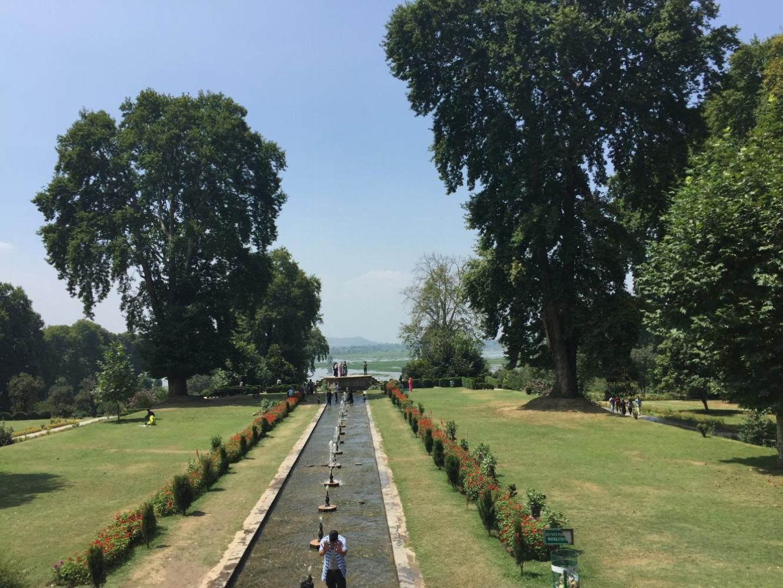 Nishat Bagh- Mughal Gardens in Srinagar, Kashmir.