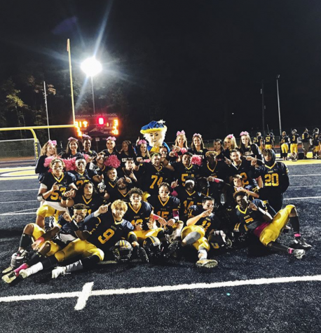 Colonia football gets a big win on senior night