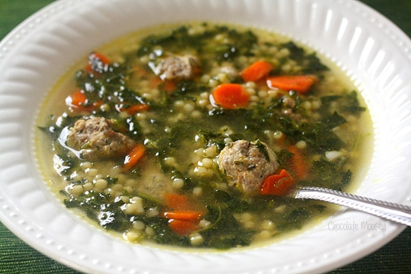 Italian wedding soup is called such, not because it is served a weddings, but because it is a