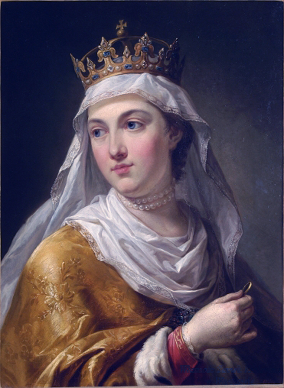 A portrait of Jadwiga, depicts the First Female King of Poland royal essence and grace.
