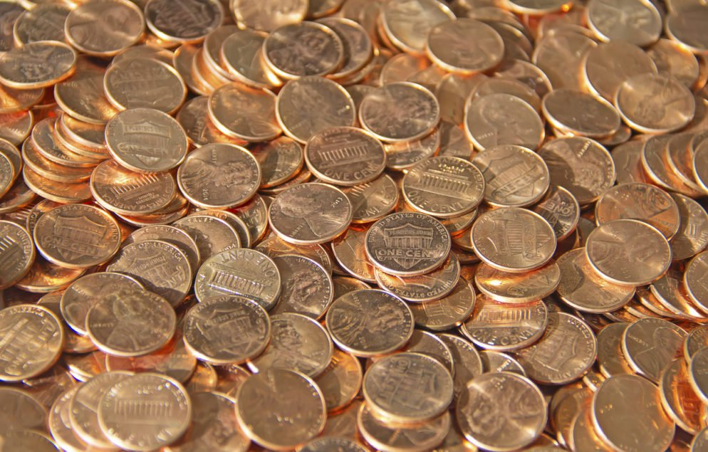 If one laid out pennies for one mile, that person would have $844.80.