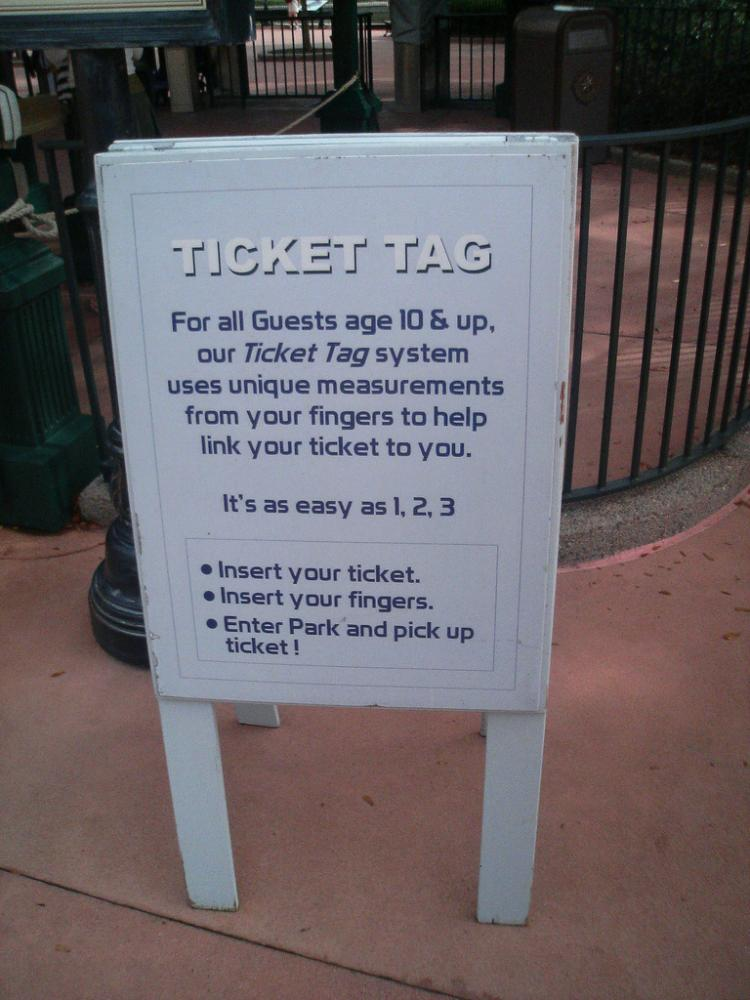 a sign explaining a fingerprint system is an example of mealy - mouthed.