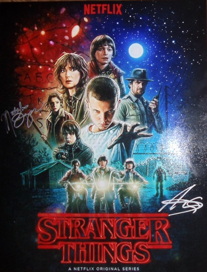 Coming together to fight the evil surrounding them the cast of Stranger Things poster shows just how strong these character are.