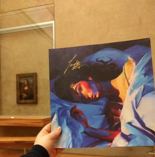 Dedicated fan hangs Lorde's Meldorama in The Louvre, an ode to one of the record's most memorable ballads.