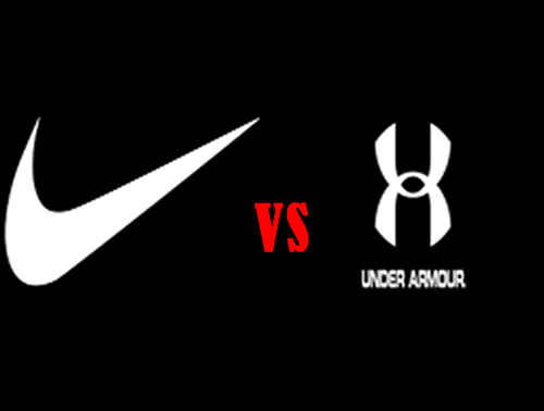 Above is the two logos of Nike and Under Armour going side by side as a symbol for comparison.