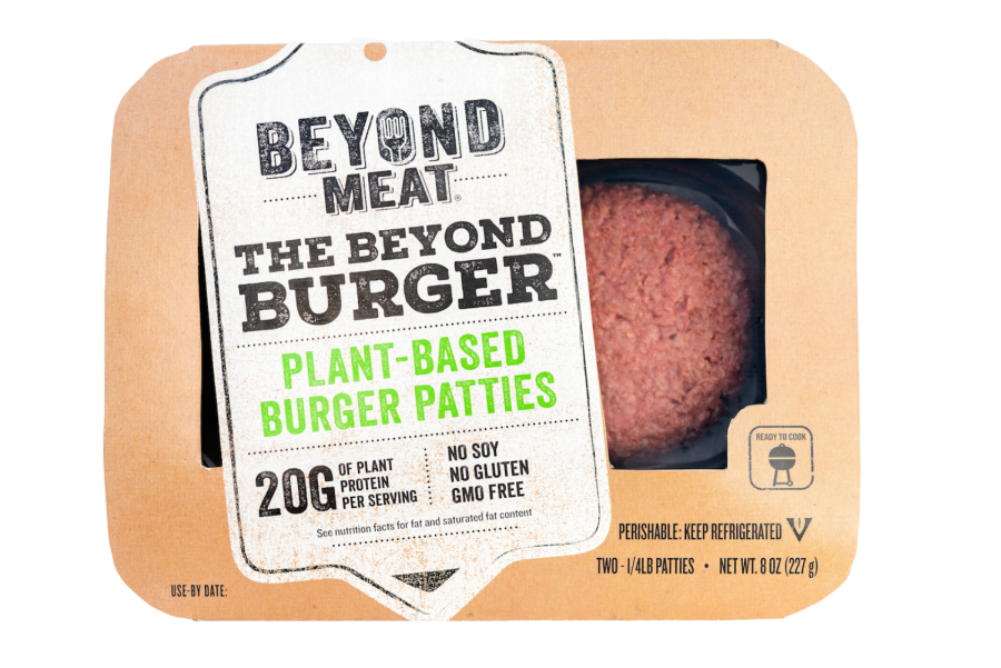 The Beyond Burger, vegan alternatives for meat.
