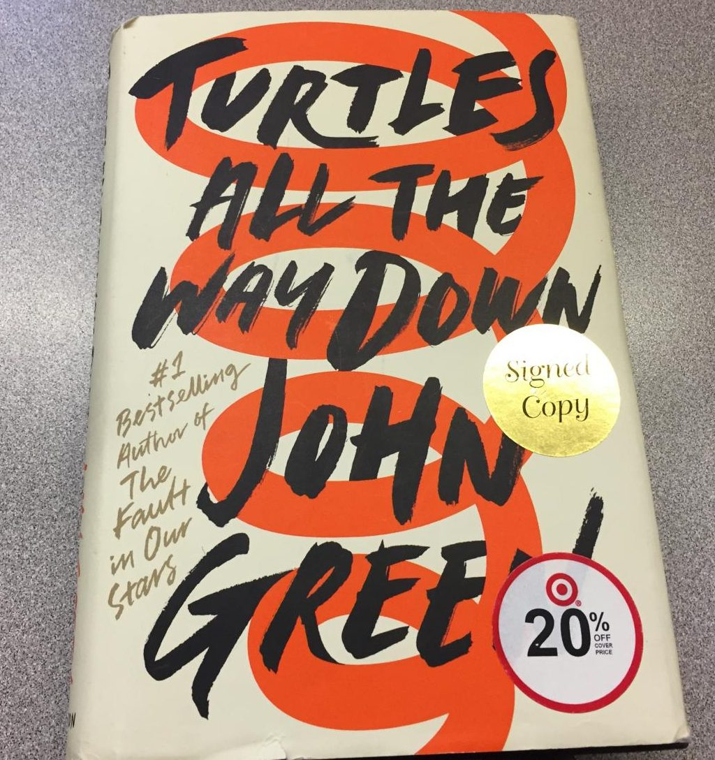The front cover for John Green's new book
