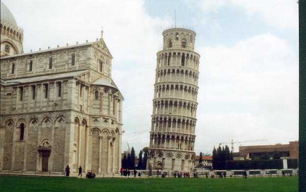 Leaning as the publoic enters for the first time in a long time, the leaning tower of pisa is a landmark for tourists.