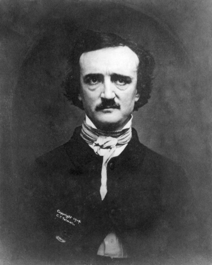 Portrait of the young and brooding Edgar Allen Poe.