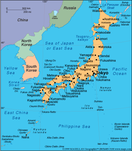 Japan is made up of exactly 6,852 islands
