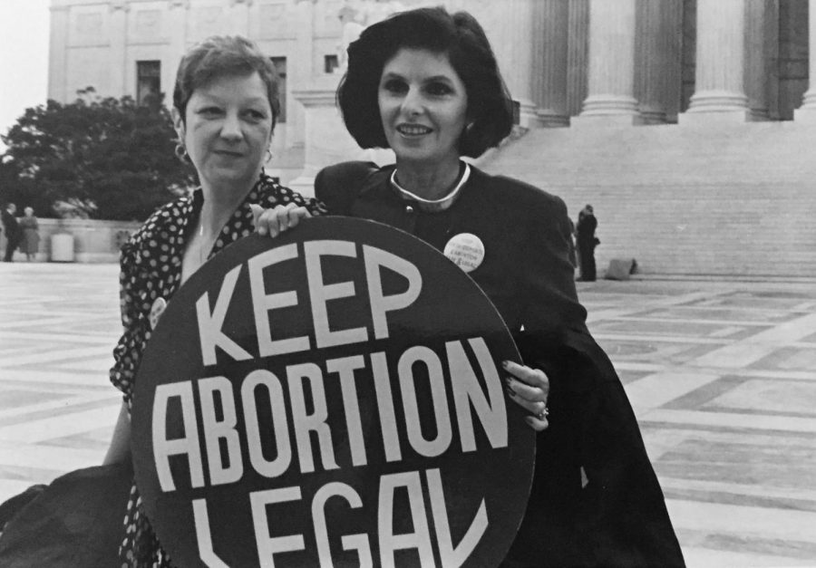 Allred (right) with client Norma McCorvey (